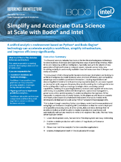Accelerate Data Science at Scale with Bodo and Intel