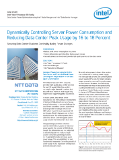 NTT Data Corporation Reduces Peak Power Consumption with Intel