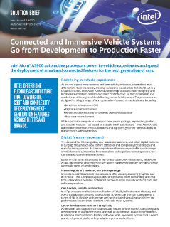 In-Vehicle Experiences with Automotive Processors