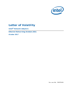 letter of volatility intel network adapters