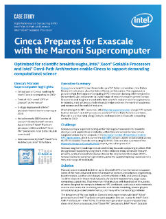 Cineca Prepares for Exascale with the Marconi* Supercomputer