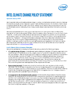 Intel Climate Change Policy