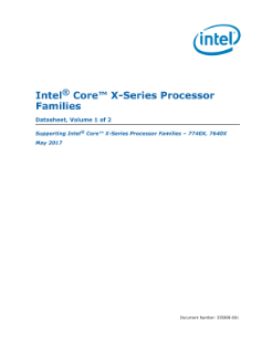 7th Gen Intel® Core™ X-Series Processor Family Datasheet, Vol. 1