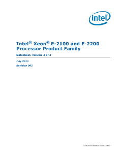 Intel® Xeon® E-2100 and E-2200 Processor Product Family Datasheet, Vol. 2