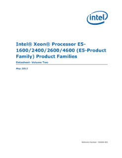 Intel® Xeon® Processor E5-1600/2600/4600 Product Families Datasheet- Volume Two
