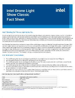 Intel Drone Light  Show Classic  Fact Sheet