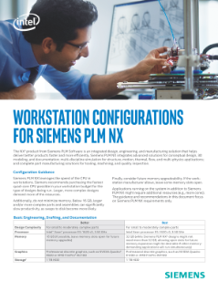 Workstation Configurations Guide for Siemens PLM NX*