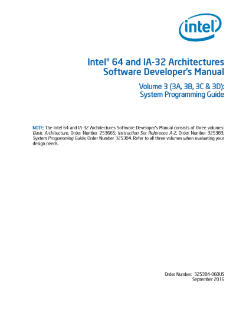 intel 64 and ia 32 architectures software developer manual vol 3