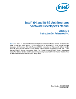 Intel® 64 and IA-32 Architectures Software Developer's Manual Volume 2B: Instruction Set Reference, M-U
