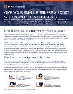 Give Your Small Business a Boost with Powerful Modern PCs