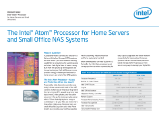 The Intel(r) Atom(tm) Processor for Home Servers and Small Office NAS Systems