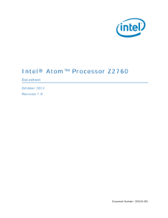 Intel® Atom' Processor Z2760 Specification Update