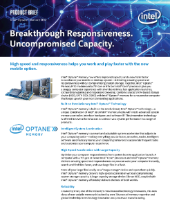 Intel® Optane™ Memory M10 Product Brief