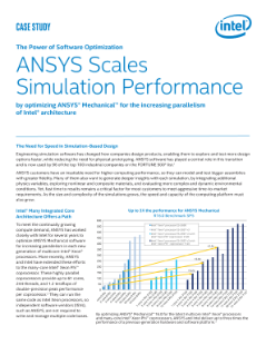 Case Study: ANSYS® Mechanical™ Scales Simulation Performance