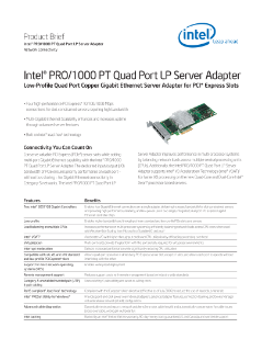 Intel® PRO/1000 PT Quad Port LP Server Adapter