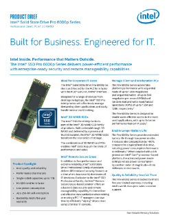 Intel® SSD Pro 6000p Series Product Brief