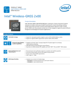 Intel® Wireless GNSS 2x00 Product Brief