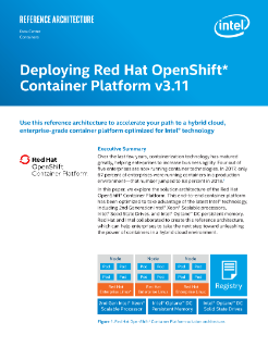 Deploying Red Hat OpenShift* Container Platform 3.11
