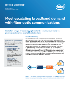 Meet Escalating Broadband Demand with Fiber to the Home