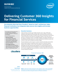 Delivering Customer 360 Insights for Financial Services Solution Brief