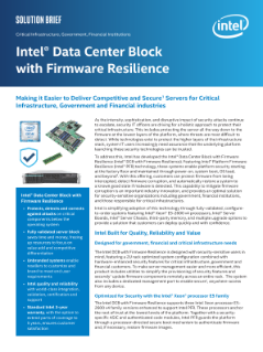 Intel® Data Center Block with Firmware Resilience Solution Brief