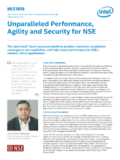 Unparalleled Performance, Agility, and Security for NSE