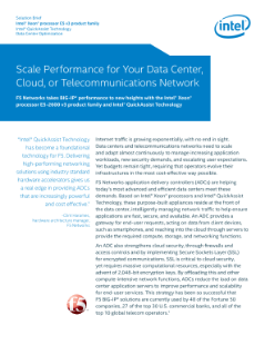 F5 Networks Scales BIG-IP* Performance Solution Brief