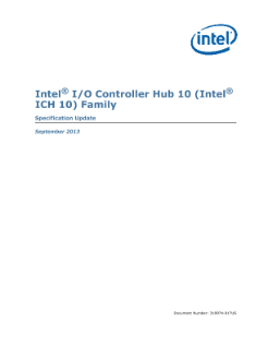 ® ® Intel I/O Controller Hub 10 (Intel ICH 10) Family Specification Update