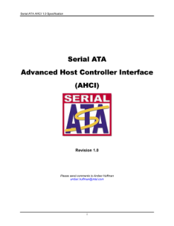 Serial ATA AHCI 1.0 Specification