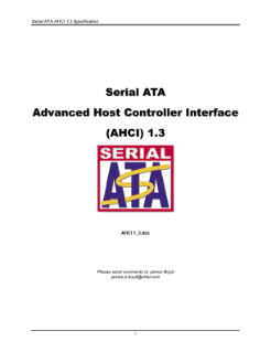 Serial ATA AHCI 1.3 Specification