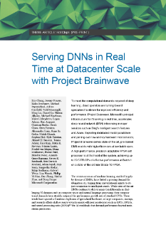 FPGAs, Microsoft Brainwave and AI Acceleration
