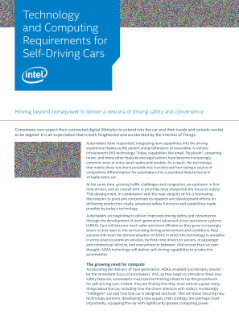 Technology and Computing Requirements for Self-Driving Cars