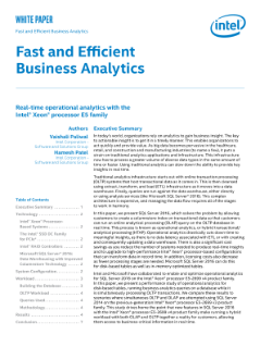 Real-time Operational Analytics with the Intel® Xeon® Processor E5 Family and SQL Server* 2016