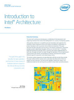 The Basics of Intel® Architecture