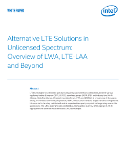 Alternative LTE Solutions in Unlicensed Spectrum