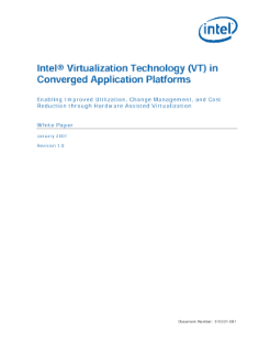 Intel® Virtualization Technology in Converged App Platforms