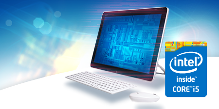 All-in-one PC performance: Intel® CoreTM i5-4570S processor